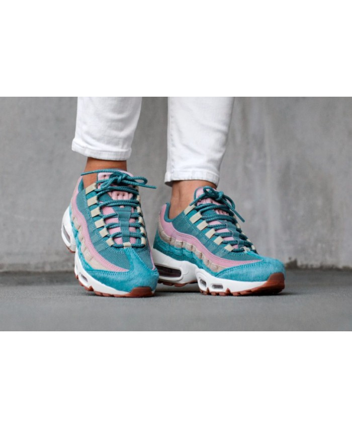 lowest price 6270b 815fe Femme Nike Air Max 95 Pony Smokey Bleu