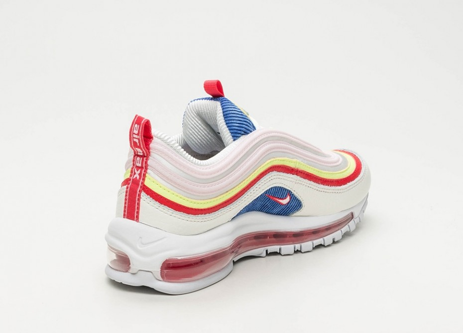 air max 97 rouge fluo